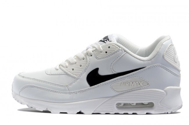 new products f83ae f2a02 Homme Nike Air Max 90 Blanc Noir