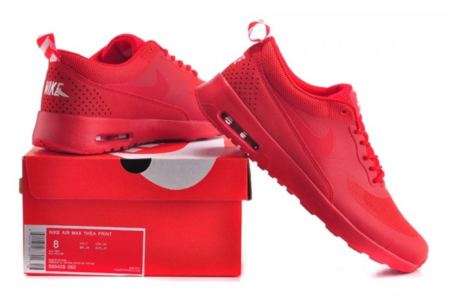 Homme Nike air Max Thea Rouge · Zoom