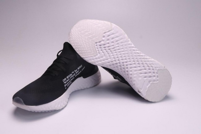 new concept a4692 3b736 ... coupon femme homme off white x nike epic react flyknit blanc noir c8594  05135