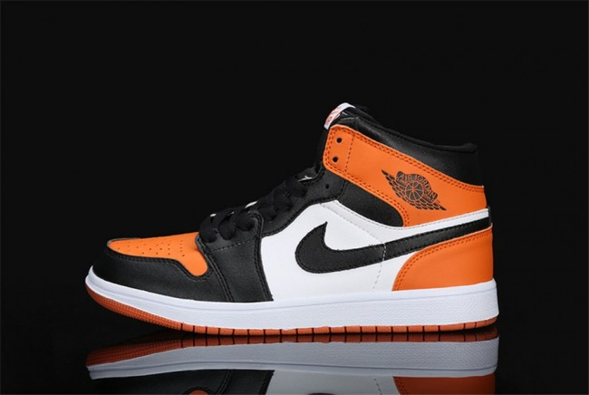 air jordan mid 1 femme orange