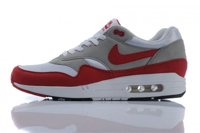 Homme Nike Air Max 1 Rouge/ Gris