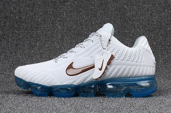 wholesale dealer 6bb7f 4ec89 Homme Nike Air Vapormax Flyknit Blanc Bleu