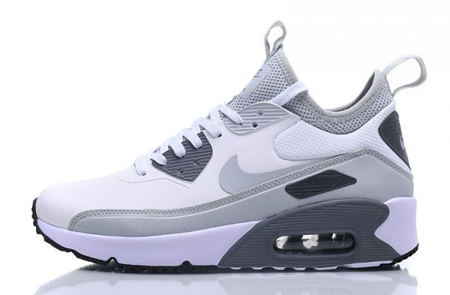 best website c0a57 d7276 Homme Nike Air Max 90 Blanc Gris Noir