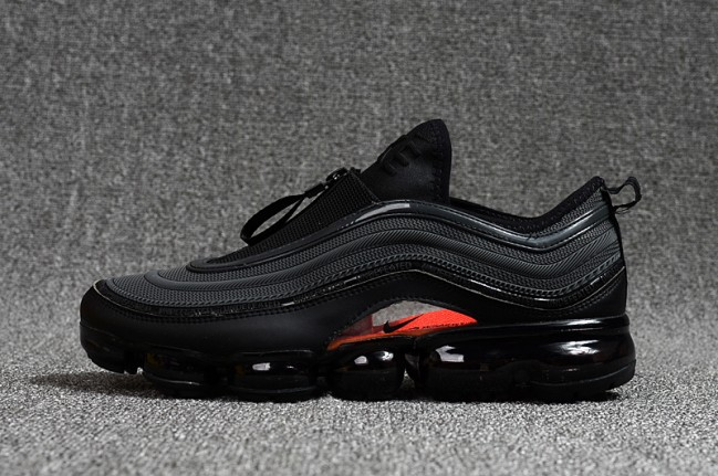 homme nike air vapormax 97 noir/orange
