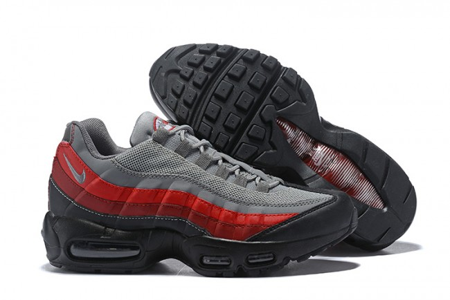 Homme Nike Air Max 95 GrisNoirRouge
