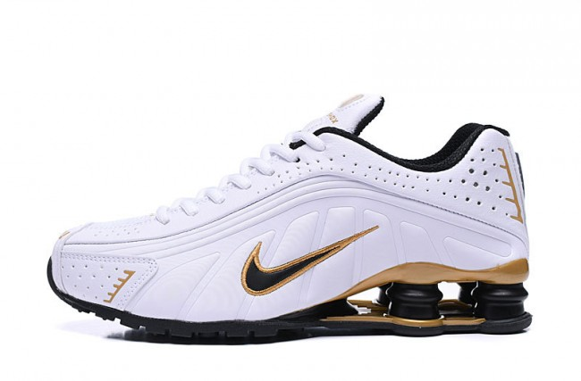 Homme Nike Shox R4 BlancGolden