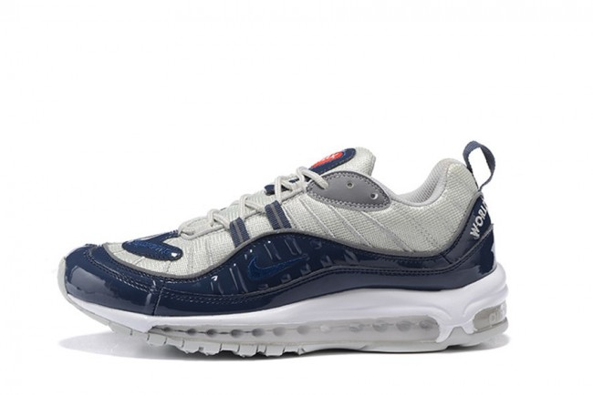 homme nike air max 98 vrgent bleu blanc homme. Black Bedroom Furniture Sets. Home Design Ideas