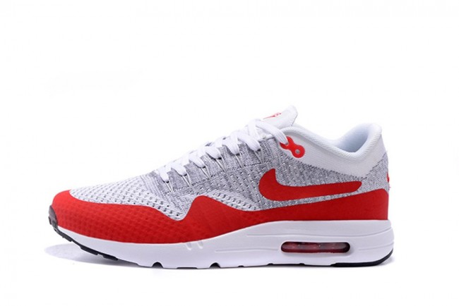 air max 1 ultra flyknit rouge blanc