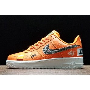 "Femme/Homme Nike Air Force 1 Low ""Just Do It"" Orange/Blanc"
