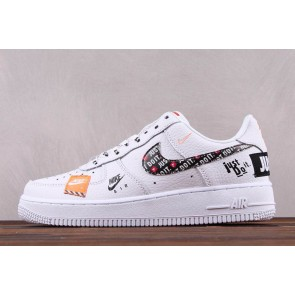 "Femme/Homme Nike Air Force 1 Low ""Just Do It"" Blanc"