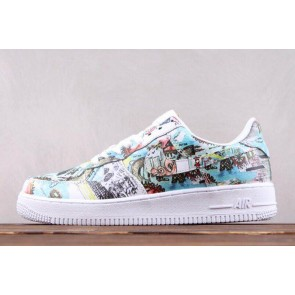 "Femme/Homme Nike Air Force 1""Wings"" Blanc"