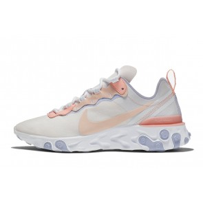 Femme Nike React Element 55 Blanc/Rose