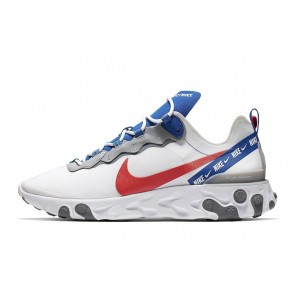 Homme Nike React Element 55 Blanc/Bleu