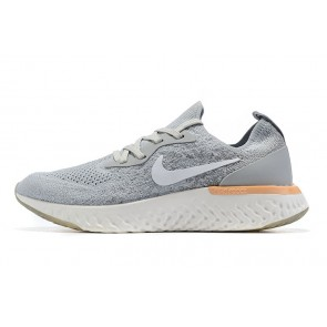 Women/Men Nike Epic React Flyknit Gris/Blanc