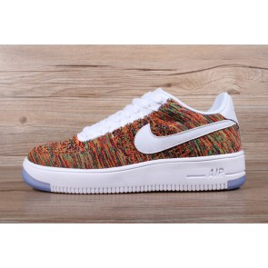 Femme/Homme Nike Air Force 1 Orange/Blanc