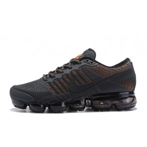 Homme Nike Air Vapormax Flyknit Noir/Orange