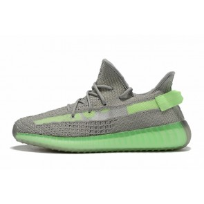 Homme Adidas Yeezy Boost 350 V2 Gris/Vert