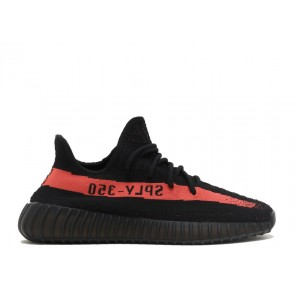 Homme Adidas Yeezy Boost 350 V2 Noir/Rouge