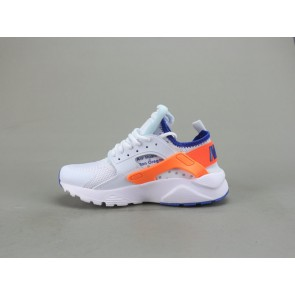 Femme/Homme OFF-WHITE x Nike Air Huarache Blanc/Orange/Bleu