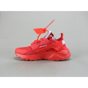 Femme/Homme OFF-WHITE x Nike Air Huarache Rouge