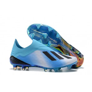 Homme Adidas X 18+ Firm Ground Cleats Bleu