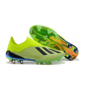 Homme Adidas X 18+ Firm Ground Cleats Vert
