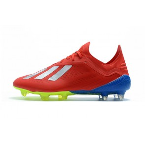 Homme Adidas X 18.1 Firm Ground Cleats Rouge