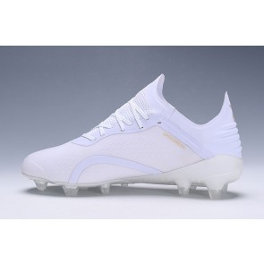 Homme Adidas X 18.1 Firm Ground Cleats Blanc