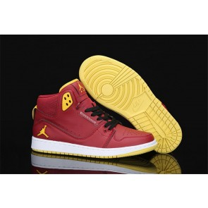Homme Nike Air Jordan 1 Flight 2  Rouge/ Jaune