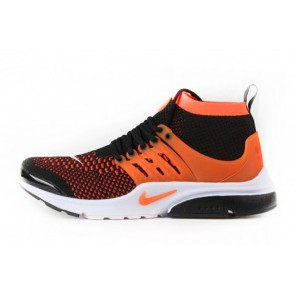 Homme Nike Air Presto Flyknit Ultra Noir/Orange