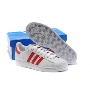 Homme Adidas Originals Superstar  Rouge-Blanc