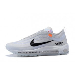 buy popular fdaf8 2ffea Femme Homme OFF-WHITE x Nike Air Max 97 Blanc