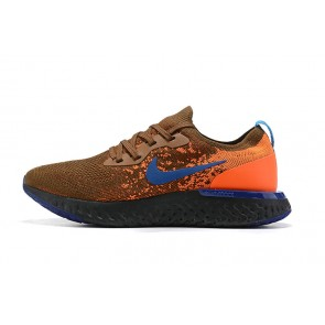 Femme/Homme Nike Epic React Flyknit Brown/Orange/Noir