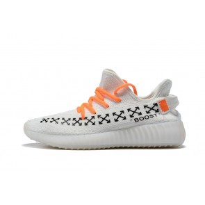 Femme/Homme OFF-WHITE x Adidas Yeezy Boost 350 V2 Blanc