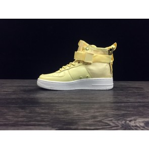 Femme/Homme Nike Air Force 1 Jaune/Blanc